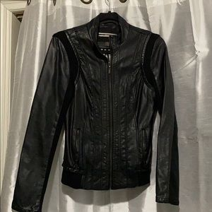 Dynamite leather zip up jacket XS